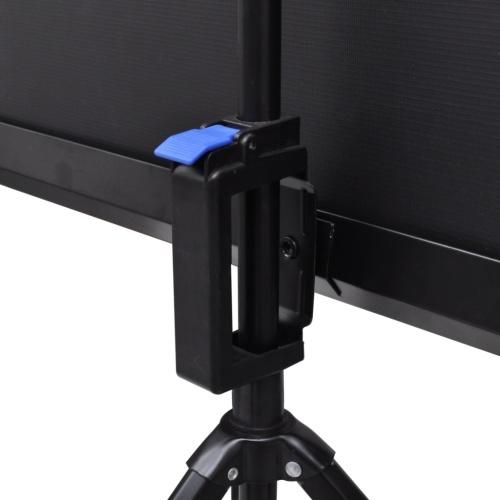 Schermo proiezione manuale altezza regolabile supporto 160x160 cm 1: 1
