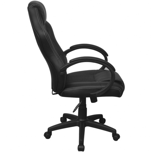 executive office chair racing artificial leather black