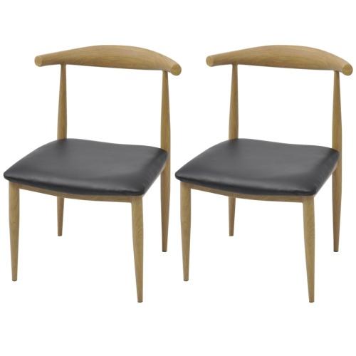 Esszimmerstühle 2 Stück Schwarz