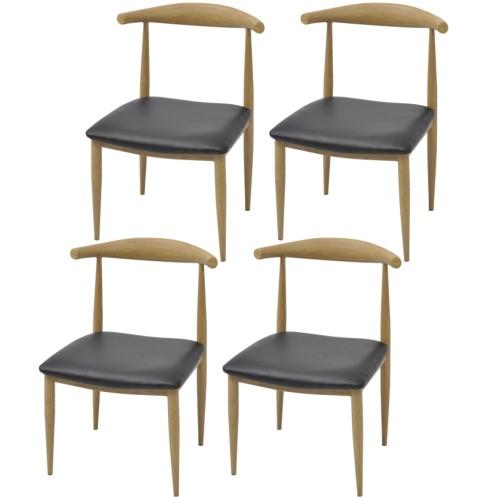 Столовые стулья 4 шт Черный