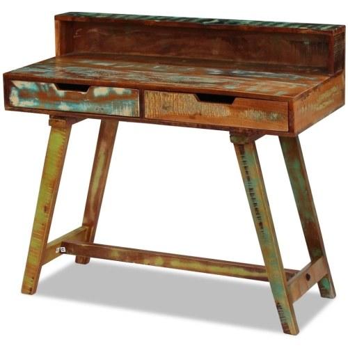 Schreibtisch aus antikem Massivholz