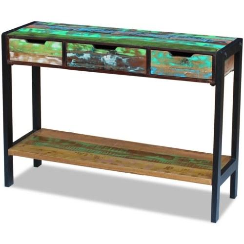 Sideboard mit 3 antiken Massivholzschubladen
