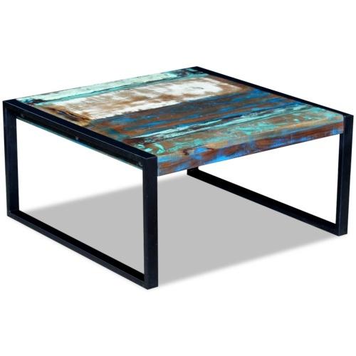 Старинный журнальный столик из дерева 80x80x40 см