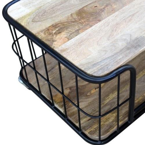 Журнальный столик Mango Solid Wood 100x50x35 см