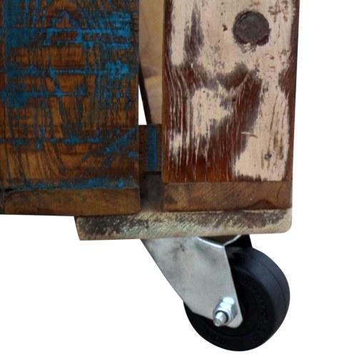 Старинный журнальный столик из натуральной древесины 70х70х35 см
