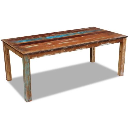 Обеденный стол из античной массивной древесины 200x100x76 см