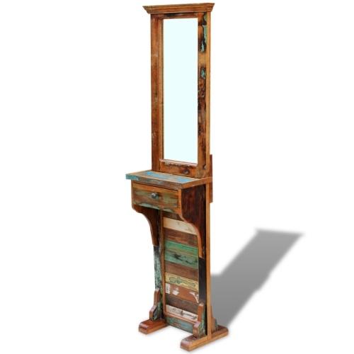 Регенерированное зеркало из натуральной древесины 47x23x180 см