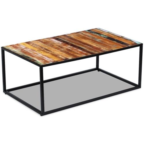 Регенерированный столовый журнальный столик 100x60x40 см