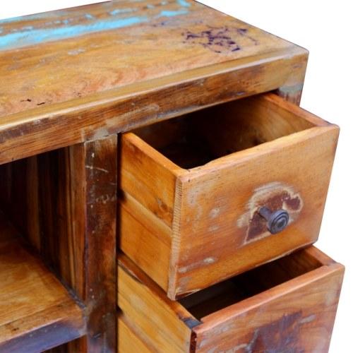 Буфет в восстановлении массивной древесины 60x30x80 см