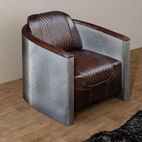 Темно-коричневый стул в кокпите 79x71x90 см. Реальная кожа