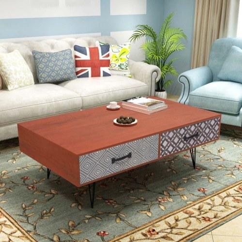 Журнальный столик 100x60x35 см коричневый