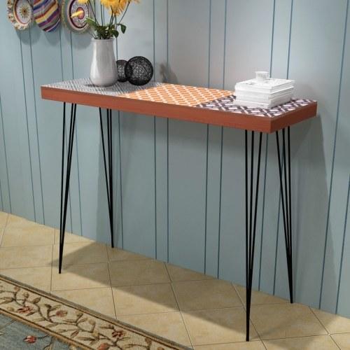 Консольный стол 90x30x71.5 см коричневый