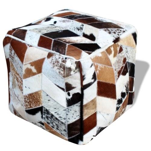 Натуральная кожа Пуф Площадь 45x45x45 см Многоцветный