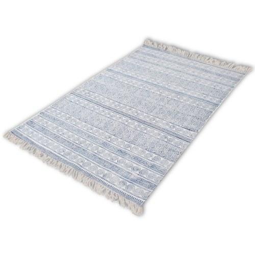 180x270 см хлопковый ковер Blue