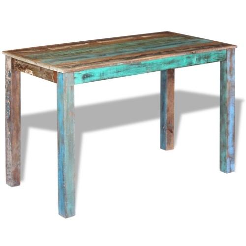 Регенерированный массивный столовый столик 115x60x76 см