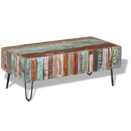 Старинный журнальный столик из натуральной древесины 100x50x38 см