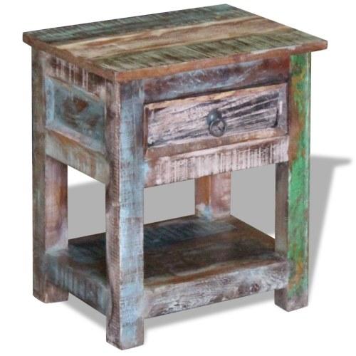 Журнальный столик с 1 ящиком из массивной древесины Mango 43x33x51 см