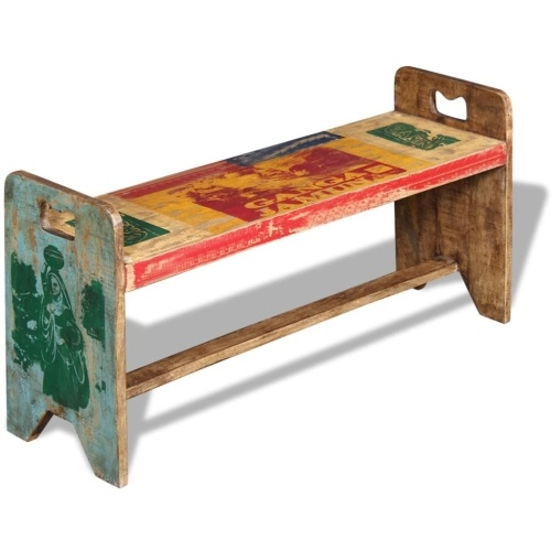 Cola Reclaimed Solid Wood Bench 100x30x50 см