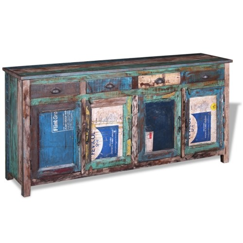 sideboard with 4 doors and 4 drawers solid wood recycled