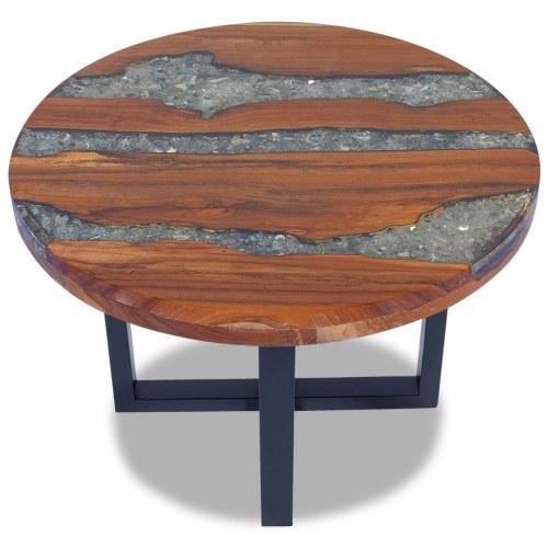 Твердый и смолистый деревянный журнальный столик 60 см