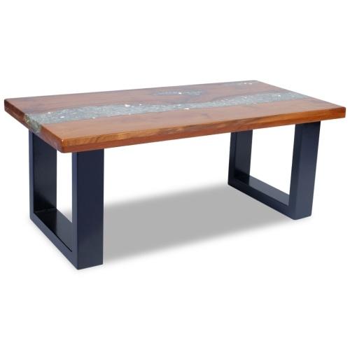 Твердый и смолистый деревянный журнальный столик 100x50 см