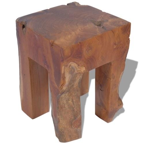 Табурет из дерева тикового дерева 30x30x40 см