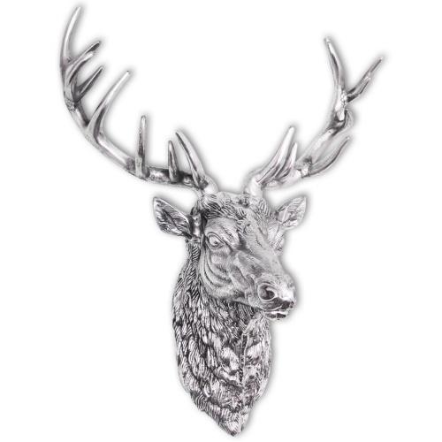 Украшение головы оленей с серебряными алюминиевыми настенными крючками