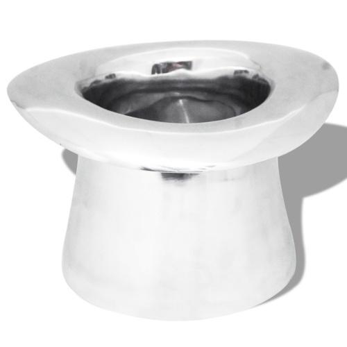Ледяной ведро для шампанского в форме алюминиевой серебряной шляпы