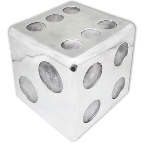 Табурет / журнальный столик Форма ореха в серебряном алюминиевом