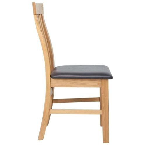 2 шт. Обеденные стулья из дубового дерева. Искусственная кожа.