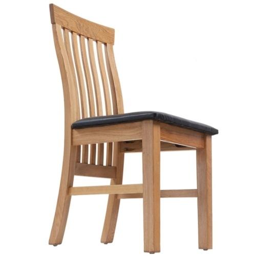 4 шт. Столовые стулья Дубовая древесина Искусственная кожа
