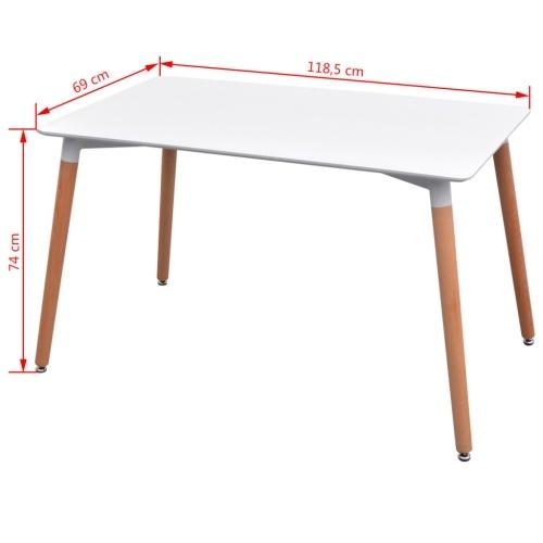 7 шт. Набор столов и стульев Белая столовая