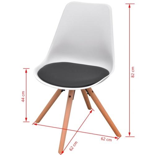 5 шт. Набор столов и стульев Столовая черная и белая