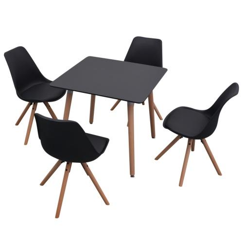 5 шт. Стол и стулья для столовой