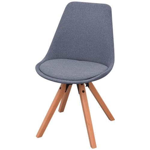 7 шт. Столик и стулья Столовая Белый и светло-серый