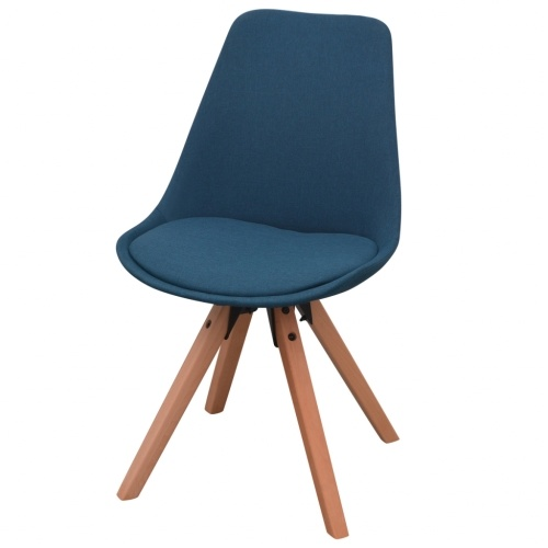 5 шт. Набор столов и стульев Столовая Белый и Синий