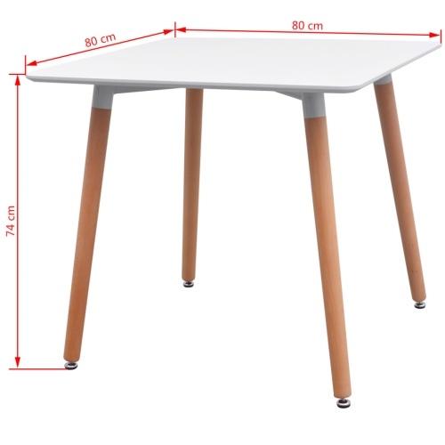 5 шт. Набор столов и стульев Столовая Белый и Темный Серый