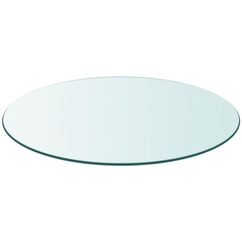 800 мм Закаленное стекло Круглый стол Top