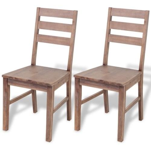 Обеденные стулья 2 шт. Из массива Acacia 42x49x90 см