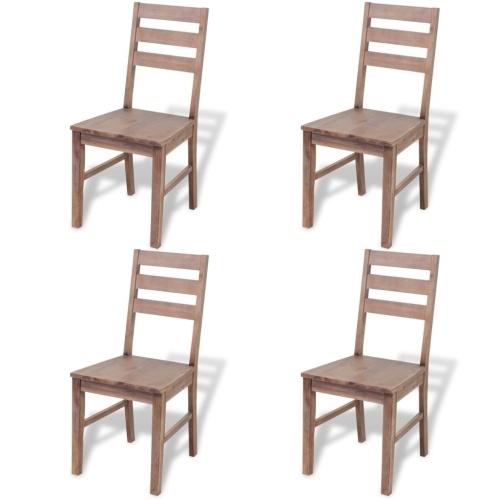 Обеденные стулья 4 шт. Из массива Acacia 42x49x90 см