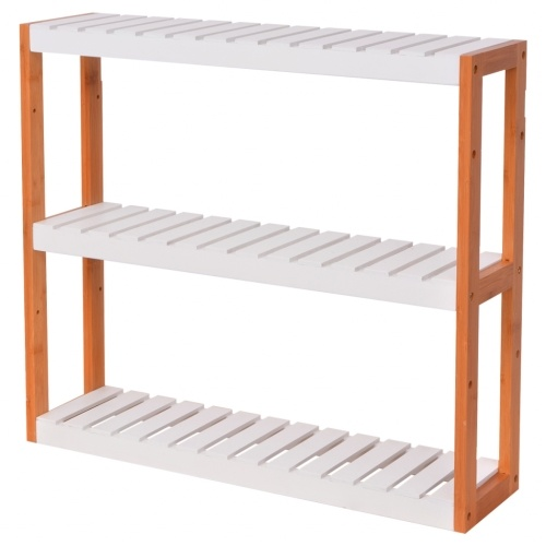 60x15x54 см. Бамбуковые деревянные полки для ванной комнаты