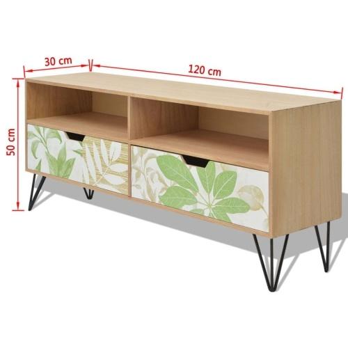 Шкаф для телевизора в MDF 120x30x50 см коричневый