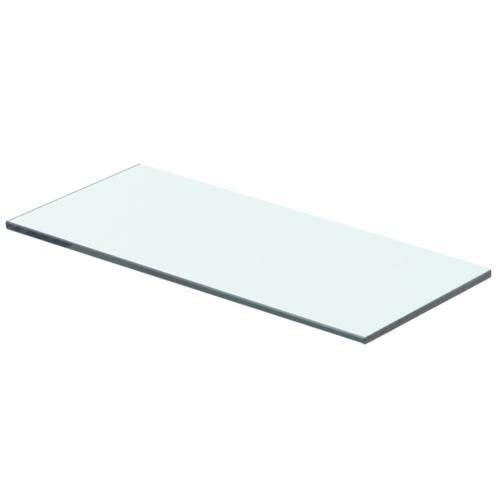 Прозрачная стеклянная полка 40x12 см