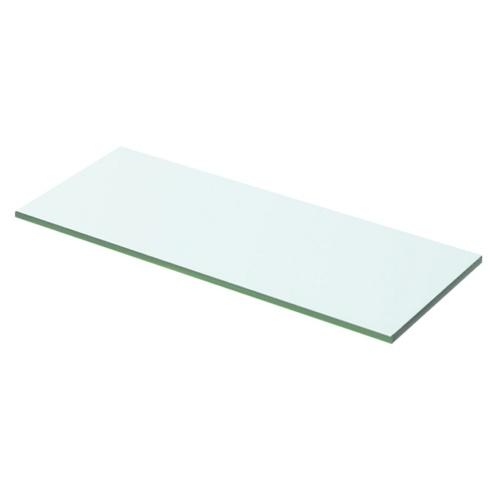 Прозрачная стеклянная полка 50x15 см