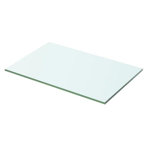 Полка в прозрачном стекле 50x25 см