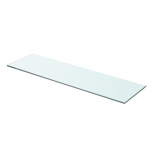 Полка в прозрачном стекле 70х20 см
