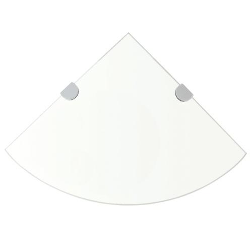 Угловая полка Chrome поддерживает прозрачное стекло 35x35cm