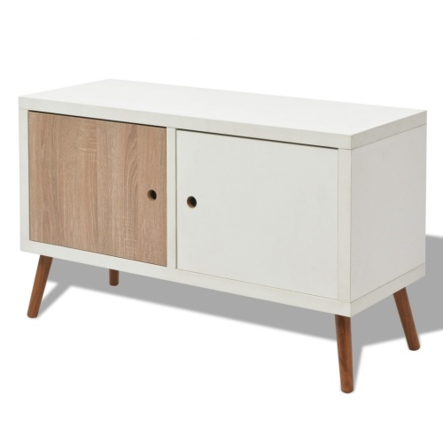 Шкаф для телевизора с 2 дверьми 88x34x52 см белый