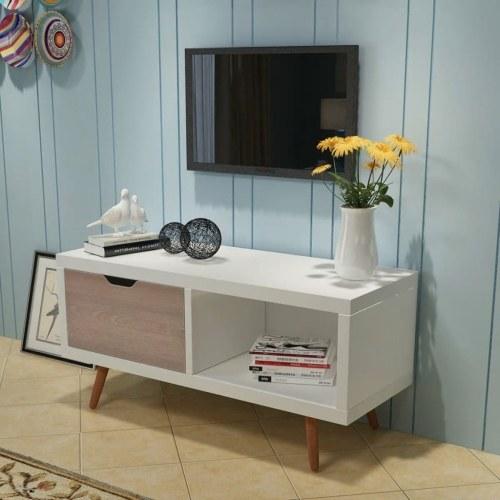 Подставка для телевизора 90x35x43 см Белая