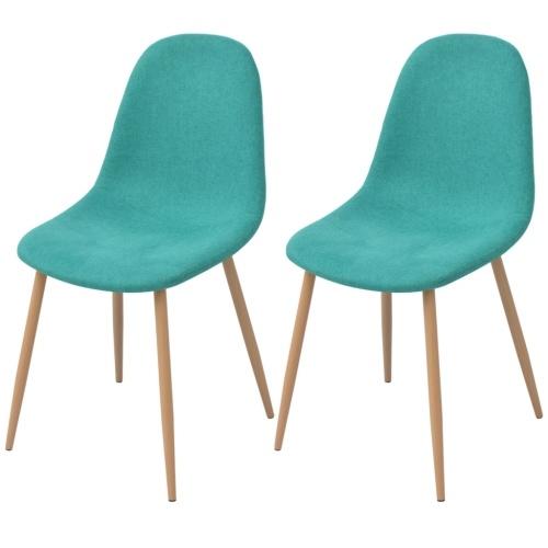 2 шт. Зеленые стулья для столовой